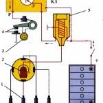 Схема конактного и контактно-транзисторного зажиганий
