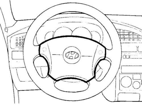 модуль подушки безопасности в руле