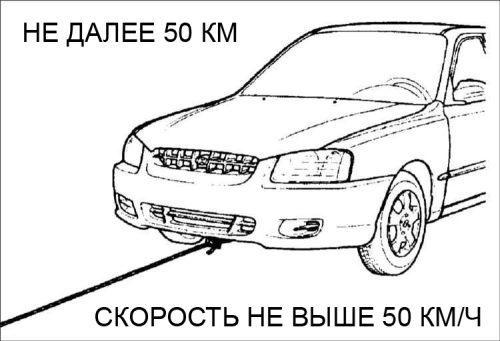 как буксировать авто с акпп