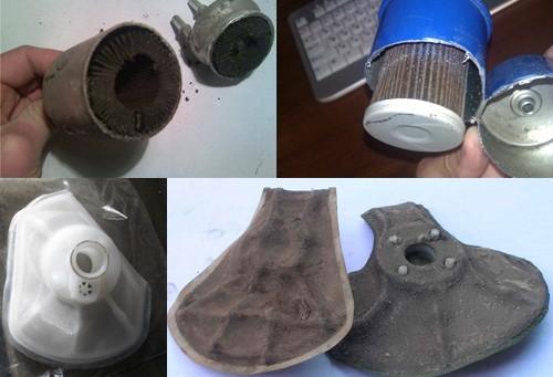 Грязные топливные фильтры