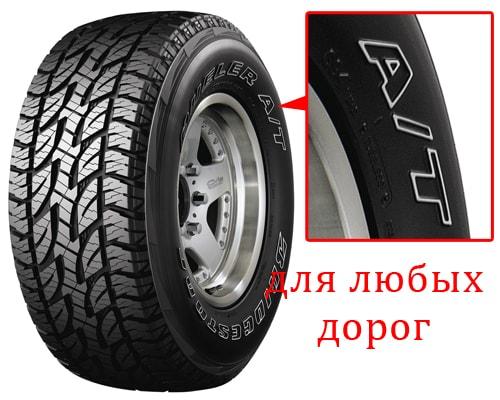Классификация внедорожных шин