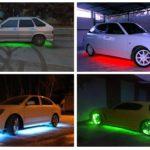 Подсветка колес и днища автомобиля своими руками, какие штрафы в 2016
