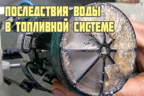 Последствия водыв бензобаке