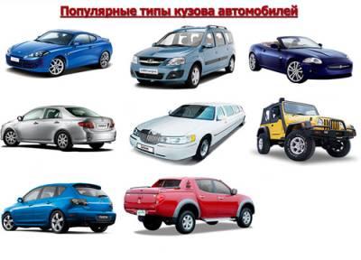 распространенные типы кузовов автомобилей