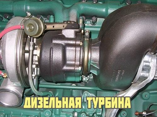 Принцип работы турбины дизельного двигателя