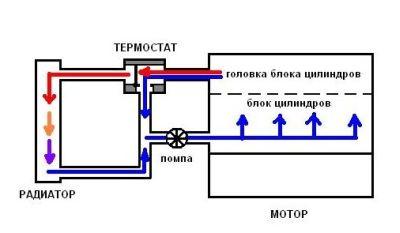 большой и малый круги системы охлаждения