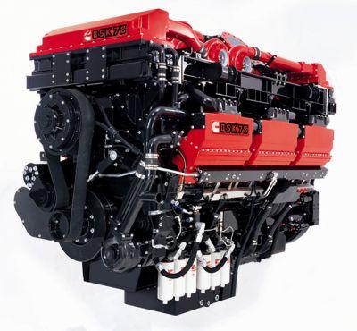 V образный дизельный двигатель