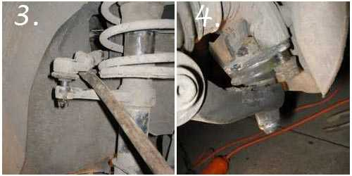 выпрессовка рулевого наконечника и снятие шаровой