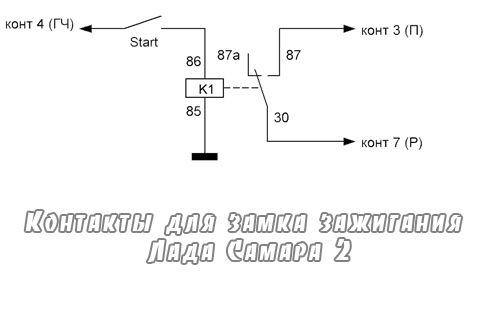 sxema s klyuchem - Установка кнопки старт стоп на ваз 2107