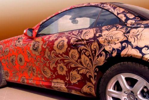 изменение цвета машины