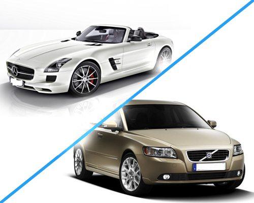 Mercedes и Volvo