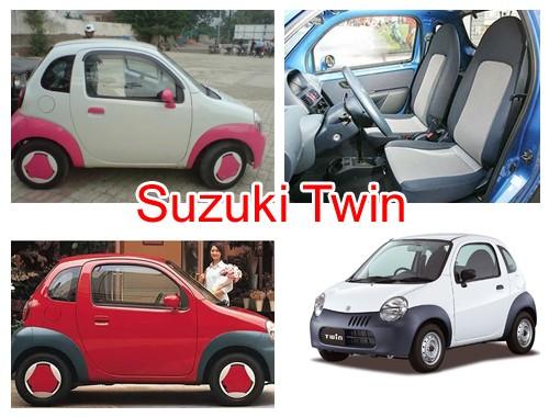 Маленькая машина Suzuki Twin