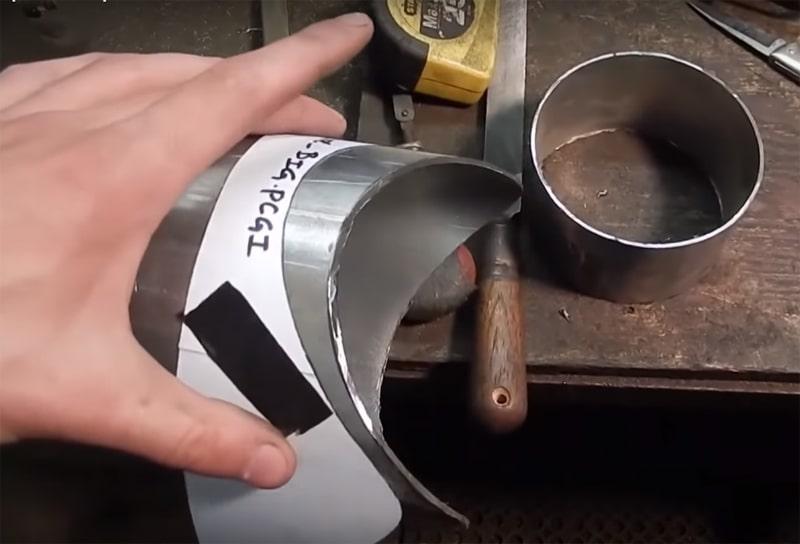 Развертка для обрезания трубы